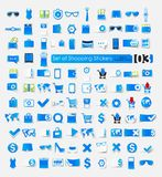 Set of shopping stickers Royalty Free Stock Image