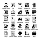 Set Of Shopping Vector Icons. Here is a very useful collection of shopping icons that you are sure to find a great use for. Pack of shopping themed icons are for Royalty Free Stock Photo