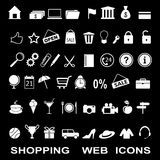 Set of the shopping web icons Royalty Free Stock Photography