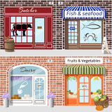 Set of shops. Butcher, fish, dairy, fruits and vegetables. Stock Images