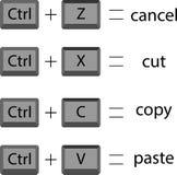 Set shortcuts icon Stock Photos