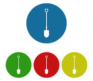 Set of shovel icons to dig. On white background Royalty Free Stock Photo