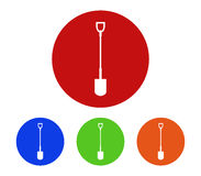 Set of shovel icons to dig. On white background Royalty Free Stock Photos