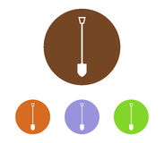 Set of shovel icons to dig. On white background Stock Photos