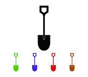 Set of shovel to dig. On white background Stock Photos