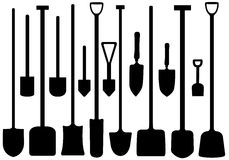 Set Of Shovels Stock Image