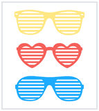 Set of shutter-shades sunglasses background vector Royalty Free Stock Photos