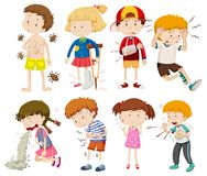 A Set of Sick Children Stock Images