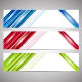 Set sieć sztandary lub chodnikowowie Obraz Stock