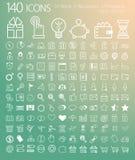 Set 140 sieć, finanse i biznesu ikony. Obraz Royalty Free