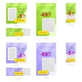 Set sieć sztandaru reklamy Zdjęcia Royalty Free