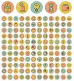Set sieci, finanse i biznesu ikony. Zdjęcia Royalty Free