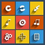 Set 9 sieci i wiszącej ozdoby ikon. Wektor. Obrazy Royalty Free