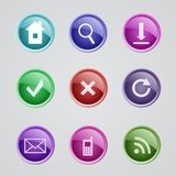 Set sieci ikony Zdjęcie Royalty Free
