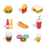 Set sieci ikony dla fast food restauraci Fotografia Stock