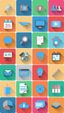 Set sieci ikony w nowożytnym płaskim projekcie Zdjęcie Stock