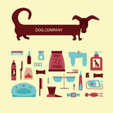 Set of sign dog accessories Royalty Free Stock Photos
