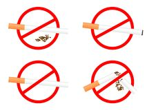 Set sign No Smoking Stock Photography