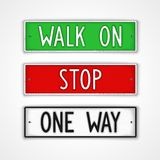 Set of signboard motivation Royalty Free Stock Images
