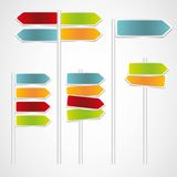 Set of Signs with arrows Stock Photography