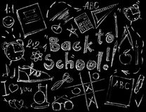 Set Signs for Design Back to School Blending Mode Royalty Free Stock Photo