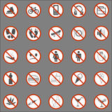 Set of Signs Stock Photo