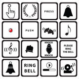 Set signs for doorbells Royalty Free Stock Photography
