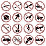 Set of signs. Good design. Red signs. vector illustration