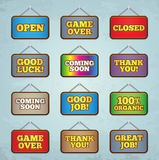 Set of signs Royalty Free Stock Photo