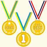 Set of signs medal Stock Image