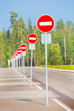 set of signs no entry Stock Photo
