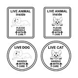 Set of signs for pet cage. Royalty Free Stock Image