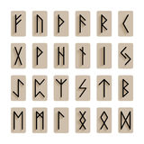 Set of signs runes isolated Stock Photo