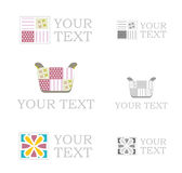 Set of signs of textile Royalty Free Stock Photography