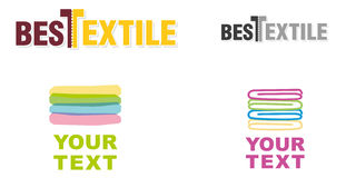 Set of signs of textile Stock Image