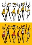 set silhouette för afrikan Royaltyfria Foton