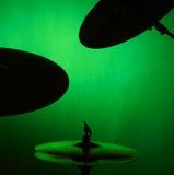 set silhouette för cymbal Royaltyfri Fotografi