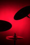 set silhouette för cymbal Arkivbild