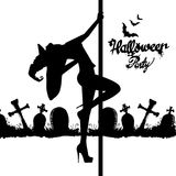 Set of silhouette image of Halloween witches. Witch, halloween, , cartoon, illustration, hat Stock Photography