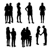 Set of Silhouette People. Vector Illustration. Royalty Free Stock Photography
