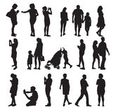Set of Silhouette People. Vector Illustration Stock Images