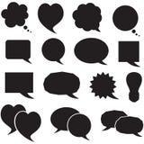Set silhouette speech bubbles Stock Photo