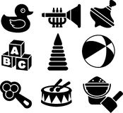 Set of silhouette toys Royalty Free Stock Photos