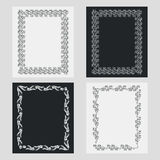 Set of silhouette vertical frames. Royalty Free Stock Image