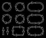 Set of silhouettes arrows. Stock Photo
