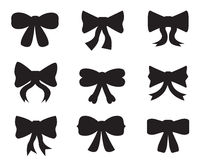 Set of silhouettes of bows Stock Photography