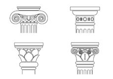 Set of silhouettes of capitals royalty free illustration