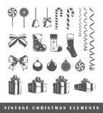 Set of silhouettes a Christmas Royalty Free Stock Photos