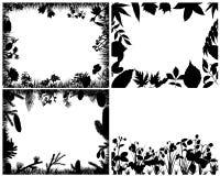 set silhouettes för gräs Royaltyfria Bilder