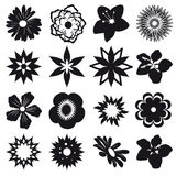 Set of silhouettes of flowers Royalty Free Stock Images